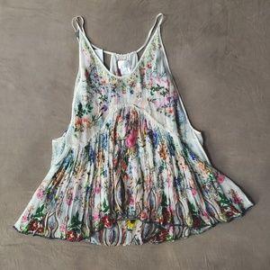 Camilla Ivory Floral Silk Camisole XL NWT